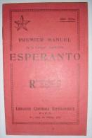 Premier Manuel De Langue Esperanto   -  1928 - Livres, BD, Revues