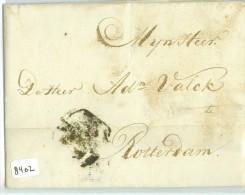 E.o. HANDGESCHREVEN BRIEF Uit 1782 Van AMSTERDAM Naar ROTTERDAM POSTHOORN (8402) - Nederland