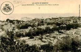 Belle CPA  -   Arcachon. Vue Générale De La Ville Et Du Bassin. E 927 - Arcachon
