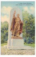 CP, AMERIQUE, ETATS-UNIS, NEW-YORK, LAKE GEORGE, Father Jaques Monument, Dedicated 1939, Vierge - Lake George
