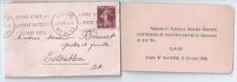 43Fc   04 Estoublon Digne Faire Part De Naissance 1936 - Naissance & Baptême