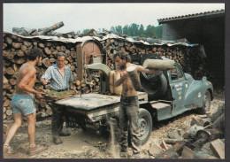 CPM 70 - LA FONTAINE Lès LUXEUIL - Hubert PIERCY, Scieur Ambulant - 7/1990 - France