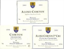 Etiquettes Aloxe Corton Domaine Follin-Arbelet  Neuves - Etiquettes