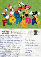 Mickey Mouse Etc, DisneyWorld, Florida, United States US Postcard Used Posted To UK 2008 Stamp - Disneyworld