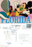 Mickey Mouse, DisneyWorld, Florida, United States US Postcard Used Posted To UK 1999 Stamp - Disneyworld