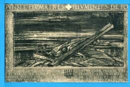 CP, CHEMIN DE CROIX Par Georges Desvallières, IXe Station - La Royauté Du Christ..., Vierge, RARE - Tableaux, Vitraux Et Statues