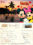 Mickey Mouse And Minnie, DisneyWorld, Florida, United States US Postcard Used Posted To UK 2004 Stamp - Disneyworld