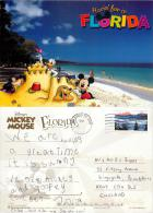 Mickey Mouse Etc, DisneyWorld, Florida, United States US Postcard Used Posted To UK 2010 Stamp - Disneyworld