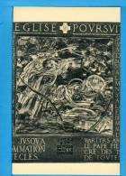 CP, CHEMIN DE CROIX Par Georges Desvallières, XIVe Station - La Gloire Du Tombeau Du Christ.., Vierge, RARE - Tableaux, Vitraux Et Statues