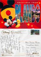 Orlando Greetings, DisneyWorld, Florida, United States US Postcard Used Posted To UK 2012 Stamp - Disneyworld