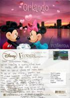 Mickey And Minnie Mouse, Orlando, DisneyWorld, Florida, United States US Postcard Used Posted To UK 2012 Stamp - Disneyworld
