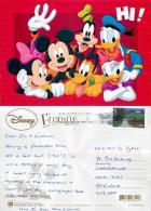 Mickey And Minnie Mouse Etc, Orlando, DisneyWorld, Florida, United States US Postcard Used Posted To UK 2012 Stamp - Disneyworld