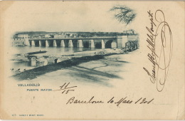 Valladolid Puente Mayor 473 Hauser Menet  Circulada 1901 Hesdin Pas De Calais - Valladolid
