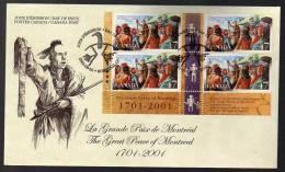 Paz En Montreal - Nativos Americanos - Indios - 2001 - Canada - Cover - Sobre Fdc - American Indians