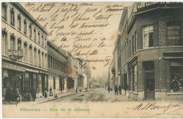 Peruwelz Rue De La Station  Edit Brouillard Magasin A La Belle Jardiniere Dutilleul 1906 - Péruwelz