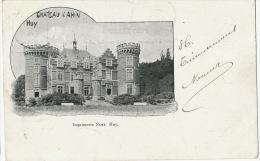 Huy Chateau D' Ahin Imprimerie Noel Timbrée Namur 1901 Vers Hesdin - Huy
