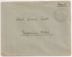 B126 - GROSSTANCHEN MORCHINGEN Moselle - Février 1944  - Feldpost Avec Courrier Pour Feldpostnummer 57101 - GROSTENQUIN - Alsace-Lorraine