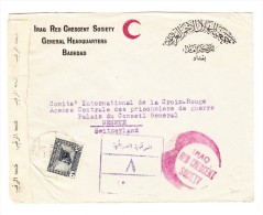 Iraq - Zensurierter Brief Von Bagdad Roter Halbmond Ans Rote Kreuz In Genf - Kriegsgefangene WW2 - Iraq