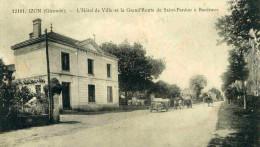 IZON - GIRONDE  (33) - PEU COURANTE CPA ANIMEE DE 1917. - France