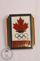 Coca Cola  Canada Olympic Games Pin Badge  - #PLS - Coca-Cola
