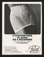 Pub Papier 1967 Sous Vetement Lingerie Gaine Panty FASTI  Femme Pin Up - Advertising