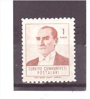 1602   **  Y&T  (Atatürk)  *TURQUIE*  13/04 - Unused Stamps