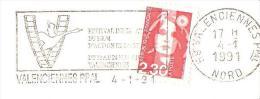 CACHET OBLITERATION FLAMME EMA VALENCIENNES FESTIVAL FILM ACTION  ENVELOPPE 22X11 - Marcophilie (Lettres)