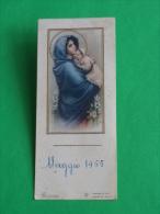 Eb Deposé S /398 - Madonna Del RIPOSO Ferruzzi  - Anno 1955 - Piccolo Santino Vecchio - Cm.10,2 X 4,5 - Images Religieuses