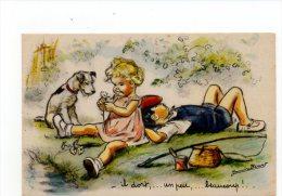 612G) GERMAINE BOURET - IL DORT UN PEU BEAUCOUP - Bouret, Germaine