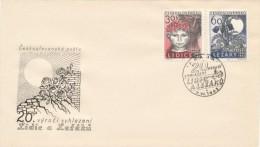 Czechoslovakia / First Day Cover (1962/07), Praha (a) - Theme: 20 Anniversary Of Lidice And Lezaky - 2. Weltkrieg