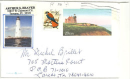 ETATS-UNIS. Phare De St George Reef, Un Entier Postal Adressé Au Texas - Fari