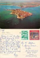 Nessebar Island, Bulgaria Postcard Posted 1979 Stamp - Bulgarie