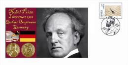 Spain 2014 - Nobel Prize 1912 - Literature - Gerhart Hauptmann/Germany Special Cancelled Cover - Prix Nobel