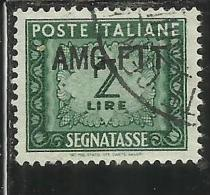 TRIESTE A 1949 1954 AMG-FTT SOPRASTAMPATO D´ITALIA ITALY OVERPRINTED SEGNATASSE TAXES TASSE LIRE 2 USATO USED - 7. Trieste