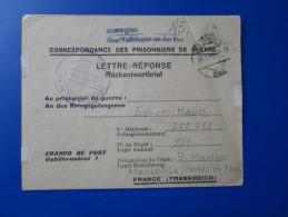 Correspondance De Prisonnier De Guerre De L´axe - Camp 151 Marseille Sainte Marthe 1947 - Guerre De 1939-45
