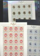 Liechtenstein  **  514-516  Wappen Geistlicher Patrone   Kleinbögen Ungefaltet - Unused Stamps