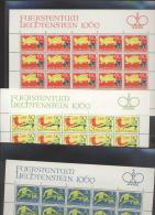 Liechtenstein  **  518-520 Sagen  Kleinbögen Ungefaltet - Unused Stamps