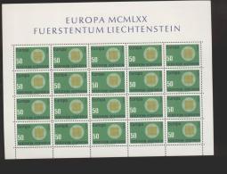 Liechtenstein  **  525 CEPT   Kleinbögen Ungefaltet - Unused Stamps