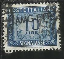 TRIESTE A 1949 1954 AMG-FTT SOPRASTAMPATO D´ITALIA ITALY OVERPRINTED SEGNATASSE TAXES TASSE LIRE 10 USATO USED - Portomarken