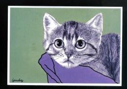 Cp - Carte Postale Neuve - L Aventure Carto - Chat - Cat - Katze -  Pierre Jeudy  300 Ex - - Cats