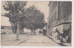TRANS EN PROVENCE : ROUTE NATIONALE ET PLACE SAINT ROCH -ECRITE 1914-2 SCANS - Otros Municipios