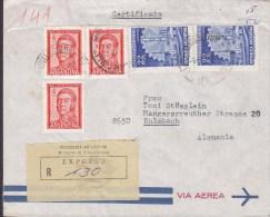 Argentina Via Aerea Certificado EXPRESSO Label Ministerio De Communicaciones El AGUILAR 1965 Cover Letra KULMBACH German - Luftpost