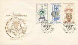 Czechoslovakia / First Day Cover (1965/06 B), Praha (a): Olympic Games - Paris 1900 (Frantisek Janda - Suk)