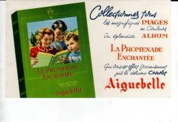BUVARDS-PUB-LE CHOCOLAT AIGUEBELLE-DECOR-IMAGES-LA PROMENADE ENCHANTEE-12 Cm  X 20 Cm - Chocolat