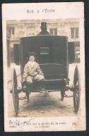 CPA, Photo-carte Circulée En 1906, Bob à L´Ecole - Calèche, Fiacre - Taxi & Carrozzelle