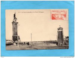 NANTES--la Tour Du Bouffay + Le Water Toboggan-animée+vignette Expo De 1904 TTB A VOIR - Commemorative Labels