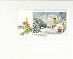 Carte  G F  Brillante  Depliante De La Veillée De Noel ( Original Peint Avec La Bouche Par H  Koschinski - Autres