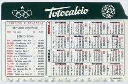 Calendarietto - Totocalcio 1988 - Formato Piccolo : 1981-90