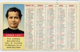 Calendarietto - Pia Opera Salesiana Dal S.cuore - Bologna 1981 - Formato Piccolo : 1981-90