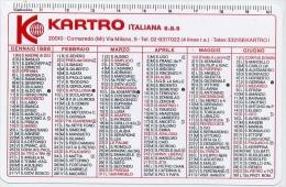 Calendarietto - Kartro Italiana S.a.s. Cornareso 1986 - Formato Piccolo : 1981-90